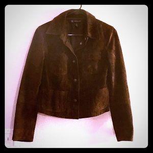INC brown suede jacket